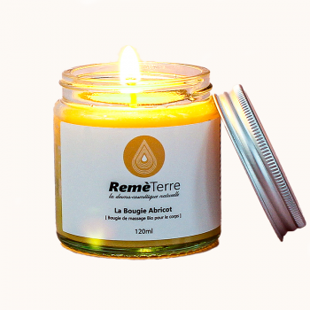 Organic massage candle