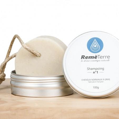 Natural and organic solid shampoo