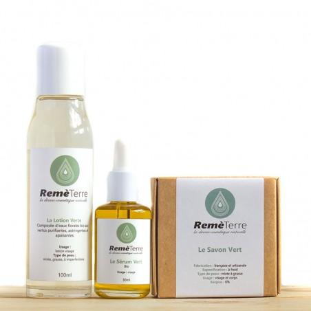 Le Protocole Vert pour peaux mixtes, grasses, à imperfections